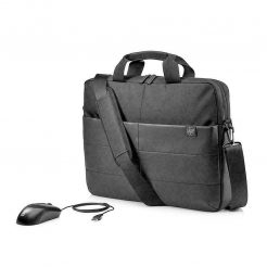 """HP 1FK06AA 15.6"""" Classic Briefcase and USB Mouse"""