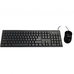 Dynabook KU40M Wired Keyboard and Mouse Combo, Black