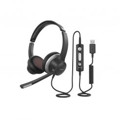 Mpower BH328A Wireless Computer Headset with Microphone, USB + 3.5mm Audio Plug
